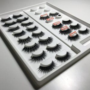 Sheet of 12 Pairs of Lashes 3D Mink Styles